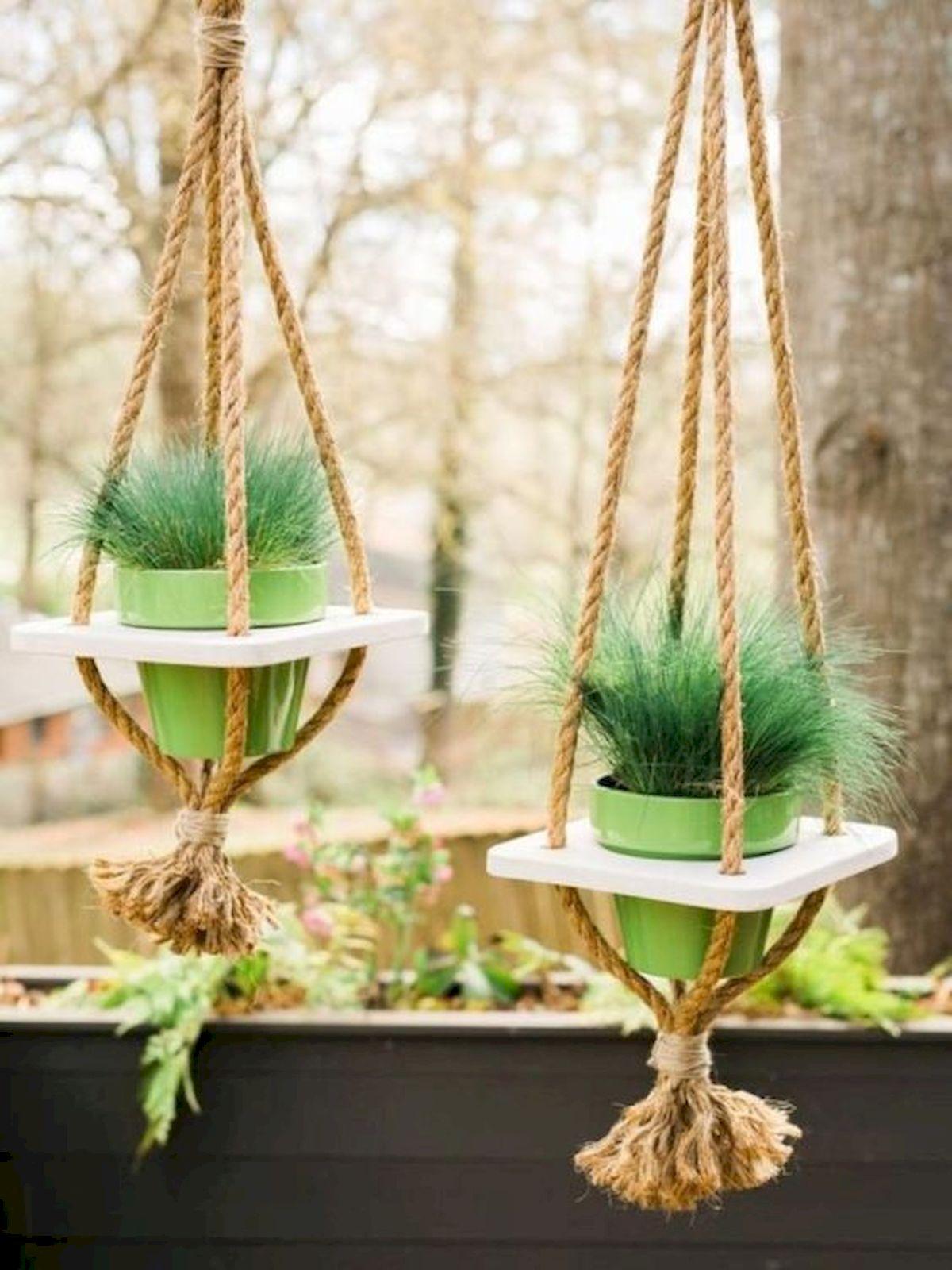 50 Awesome DIY Hanging Plants Ideas For Modern Backyard Garden (42)
