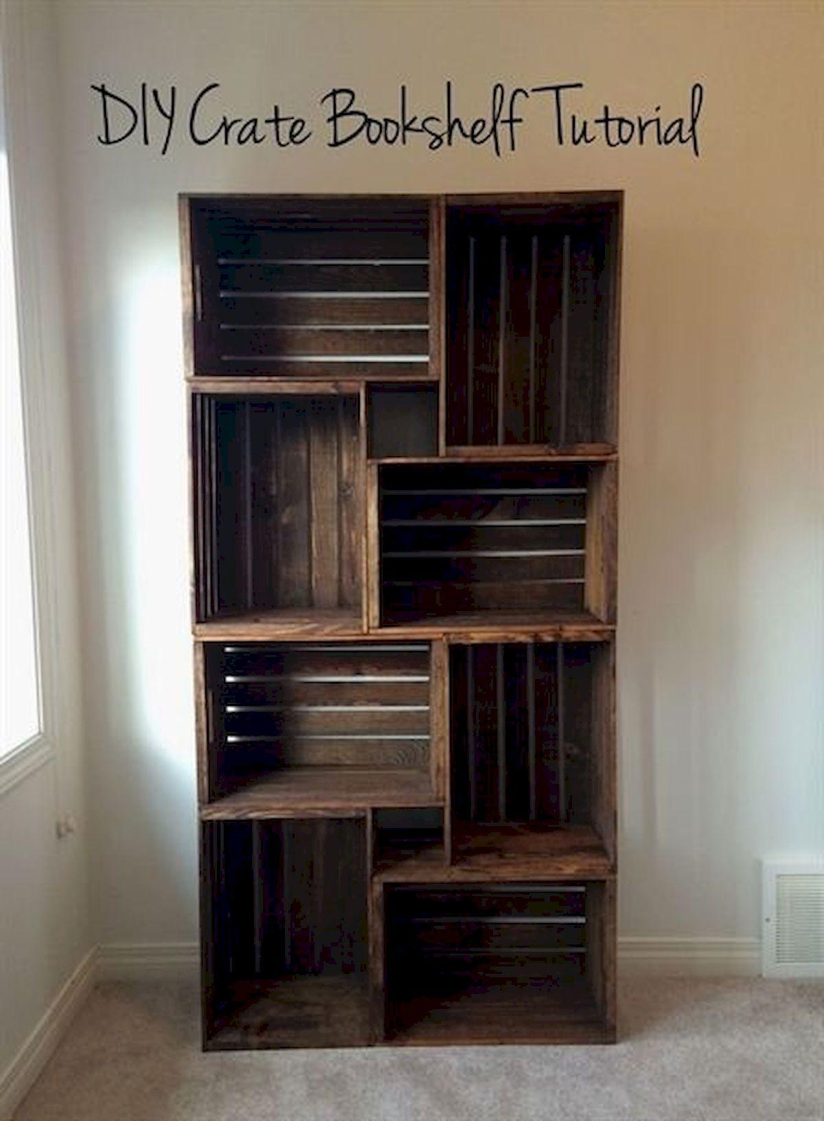 50 Easy DIY Bookshelf Design Ideas (3)
