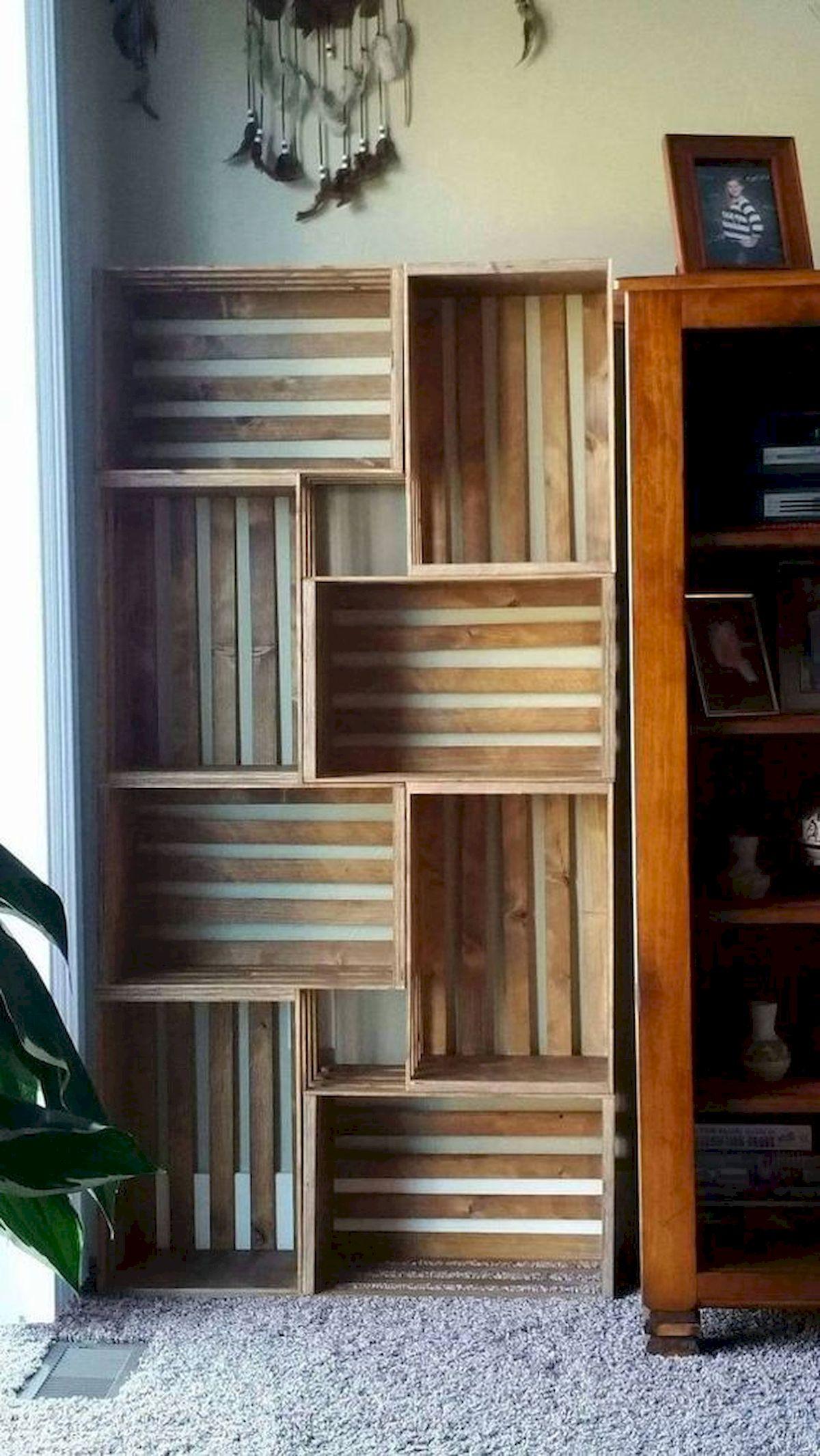 50 Easy DIY Bookshelf Design Ideas (32)
