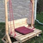 30 Creative DIY Wooden Pallet Swing Chair Ideas (27)