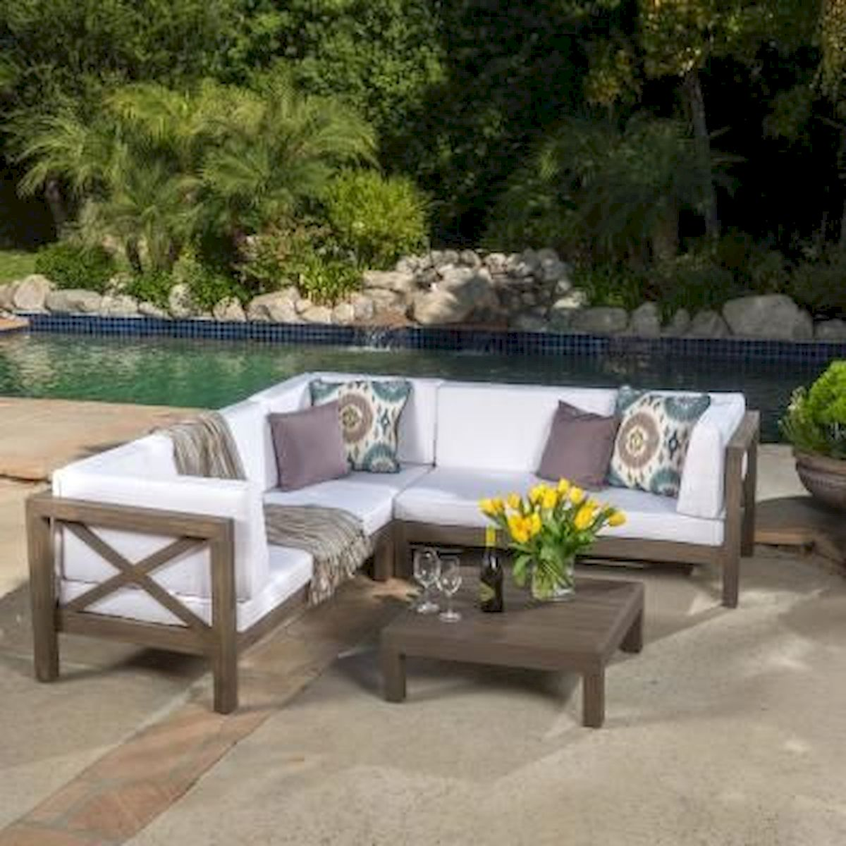 40 Awesome DIY Outdoor Bench Ideas For Backyard And Front Yard Garden (3)