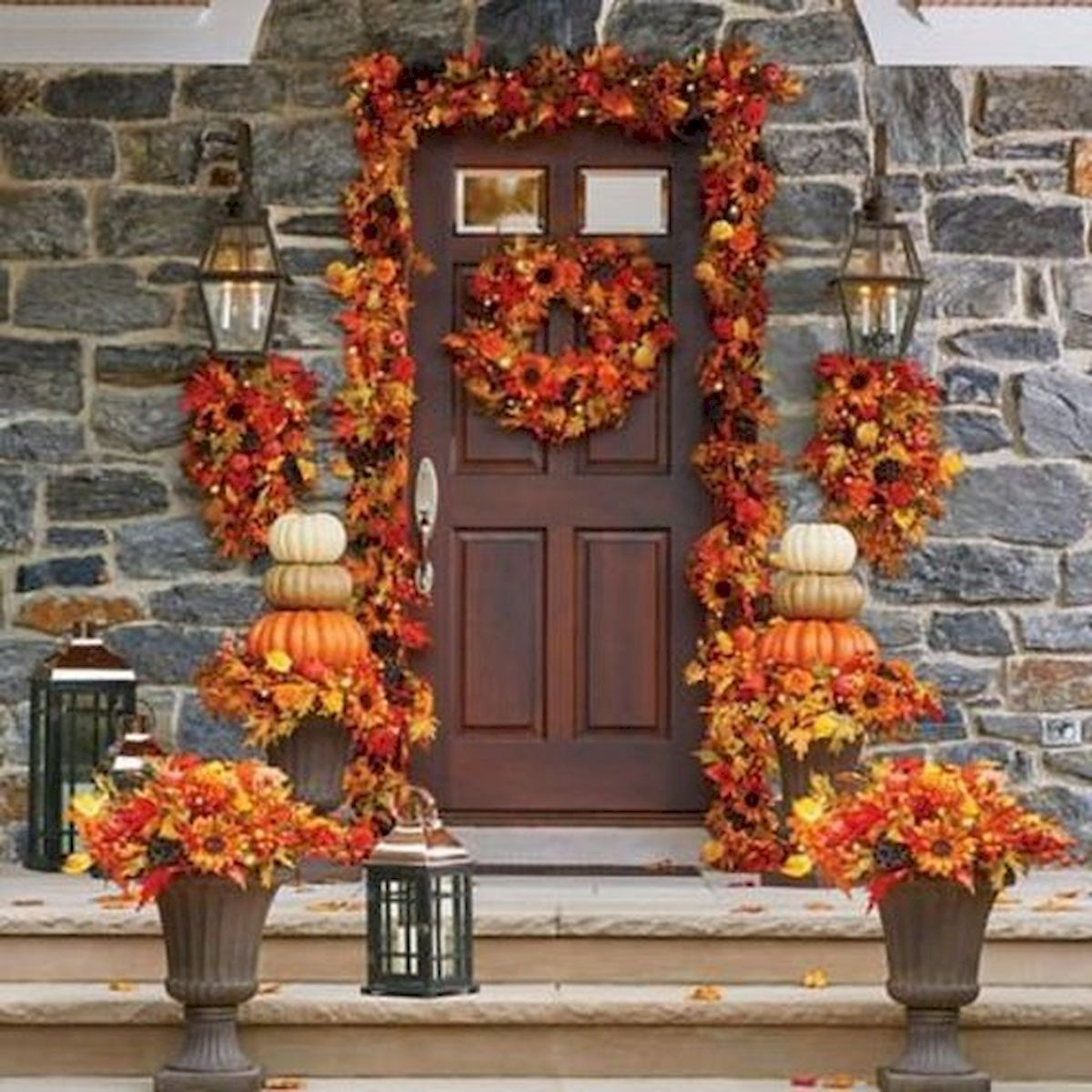 40 Fantastic DIY Fall Front Porch Decorating Ideas (1)