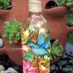 40 Fantastic DIY Wine Bottle Crafts Ideas With Lights (21)
