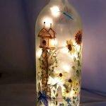 40 Fantastic DIY Wine Bottle Crafts Ideas With Lights (26)