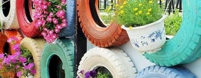 25 Creative DIY Garden Decoration Ideas Using Old Tires (1)