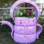 25 Creative DIY Garden Decoration Ideas Using Old Tires (19)