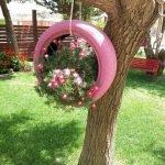 25 Creative DIY Garden Decoration Ideas Using Old Tires (20)