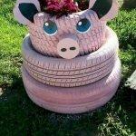 25 Creative DIY Garden Decoration Ideas Using Old Tires (22)