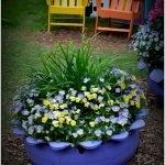 25 Creative DIY Garden Decoration Ideas Using Old Tires (5)