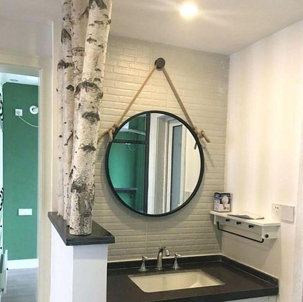 26 Easy and Creative DIY Mirror Ideas To Decorate Your Bathroom (22)