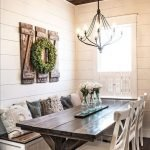 20 Awesome Farmhouse Dining Room Decor Ideas and Remodel (10)