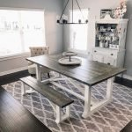 20 Awesome Farmhouse Dining Room Decor Ideas and Remodel (3)