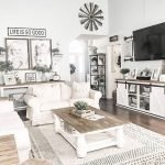 20 Awesome Farmhouse Living Room Decor Ideas and Remodel (12)