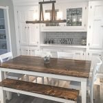 20 Beautiful Farmhouse Dining Room Table Decor Ideas And Remodel (18)