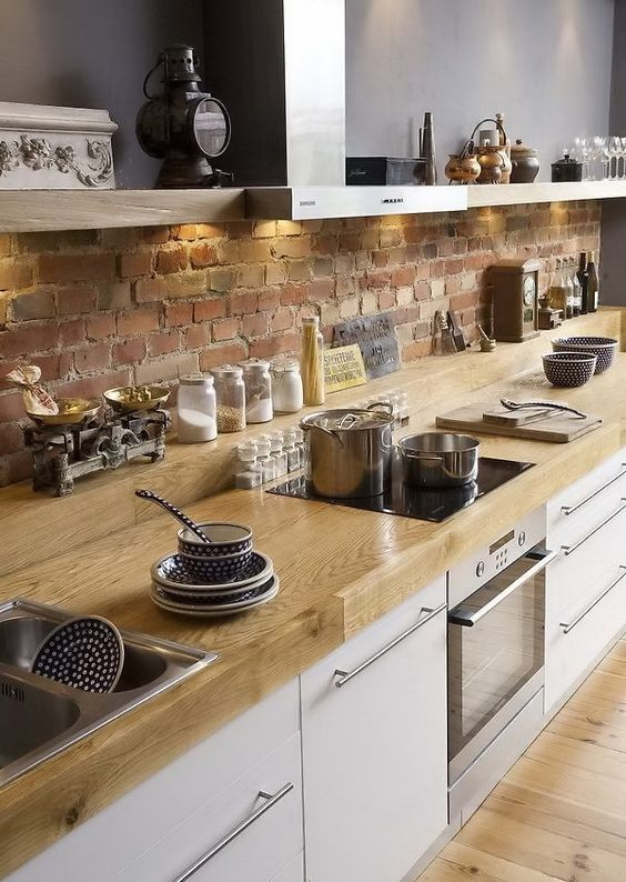 20 Beautiful Farmhouse Kitchen Backsplash Decor Ideas and Remodel (8)