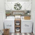20 Beautiful Farmhouse Laundry Room Decor Ideas and Remodel (15)