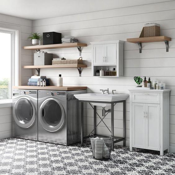20 Beautiful Farmhouse Laundry Room Decor Ideas And Remodel (2)