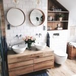 20 Best Farmhouse Bathroom Lighting Decor Ideas And Remodel (15)