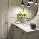 20 Best Farmhouse Bathroom Lighting Decor Ideas And Remodel (19)