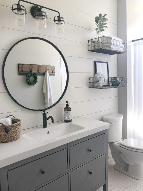 20 Best Farmhouse Bathroom Lighting Decor Ideas And Remodel (2)