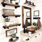 20 Best Farmhouse Bathroom Lighting Decor Ideas And Remodel (20)