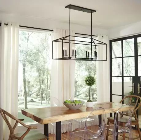 20 Best Farmhouse Dining Room Lighting Decor Ideas And Remodel (3)