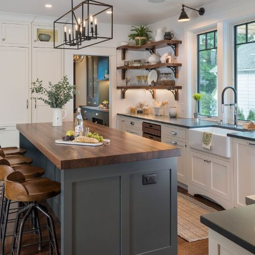 20 Best Farmhouse Kitchen Lighting Decor Ideas and Remodel (13)