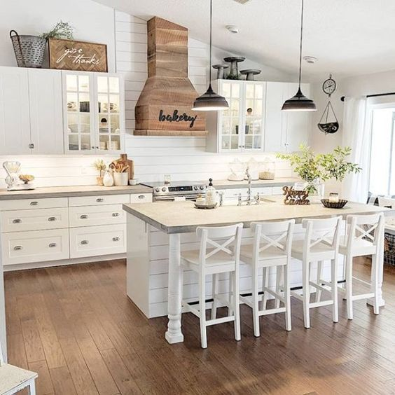 20 Best Farmhouse Kitchen Lighting Decor Ideas and Remodel (18)