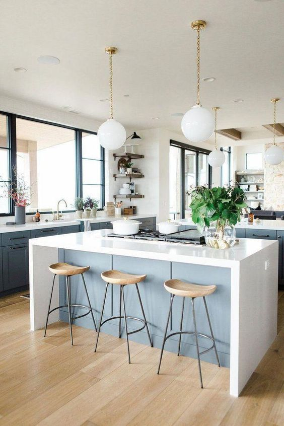 20 Best Farmhouse Kitchen Lighting Decor Ideas and Remodel (6)