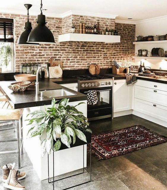 20 Best Farmhouse Kitchen Lighting Decor Ideas and Remodel (7)