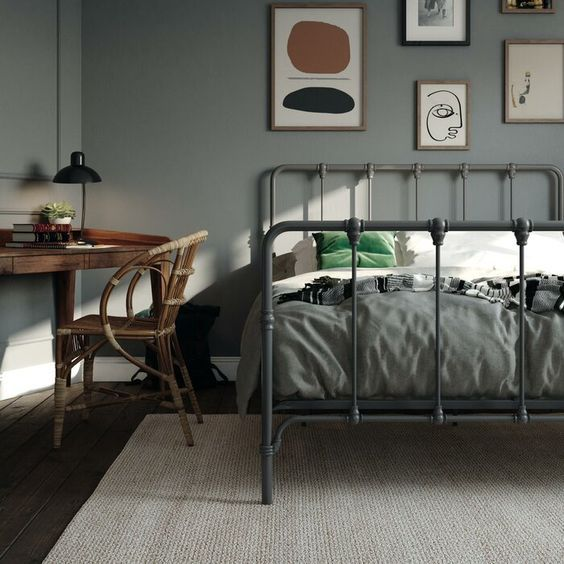 20 Best Industrial Farmhouse Bedroom Decor Ideas and Remodel (9)