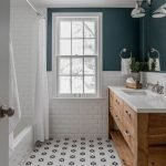 20 Stunning Farmhouse Bathroom Tile Decor Ideas And Remodel (12)