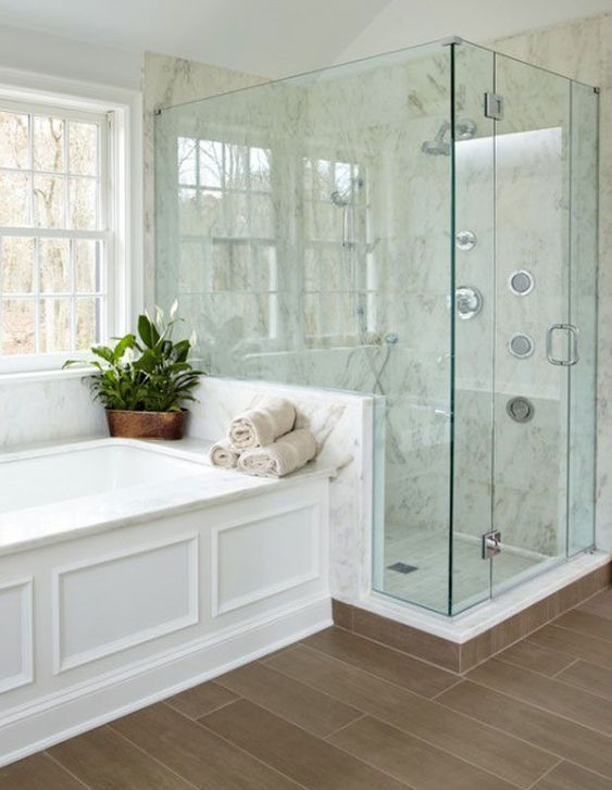 20 Stunning Farmhouse Bathroom Tile Decor Ideas and Remodel (19)