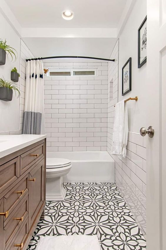 20 Stunning Farmhouse Bathroom Tile Decor Ideas And Remodel (6)