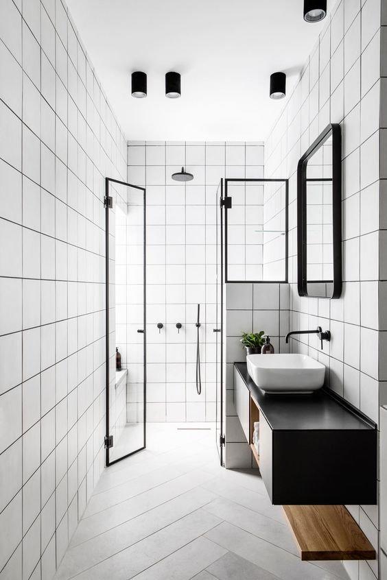 20 Stunning Farmhouse Bathroom Tile Decor Ideas and Remodel (8)