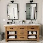 20 Stunning Farmhouse Bathroom Vanity Decor Ideas And Remodel (11)
