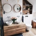 20 Stunning Farmhouse Bathroom Vanity Decor Ideas And Remodel (13)