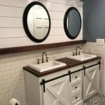 20 Stunning Farmhouse Bathroom Vanity Decor Ideas And Remodel (17)