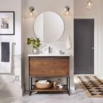 20 Stunning Farmhouse Bathroom Vanity Decor Ideas And Remodel (2)
