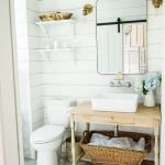 20 Stunning Farmhouse Bathroom Vanity Decor Ideas And Remodel (20)