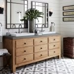 20 Stunning Farmhouse Bathroom Vanity Decor Ideas And Remodel (5)