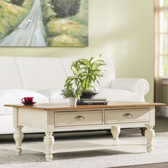 20 Stunning Farmhouse Coffee Table Decor Ideas and Remodel (15)