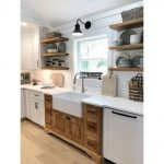 20 Stunning Farmhouse Kitchen Cabinets Decor Ideas And Remodel (10)