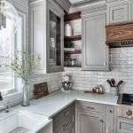 20 Stunning Farmhouse Kitchen Cabinets Decor Ideas And Remodel (5)