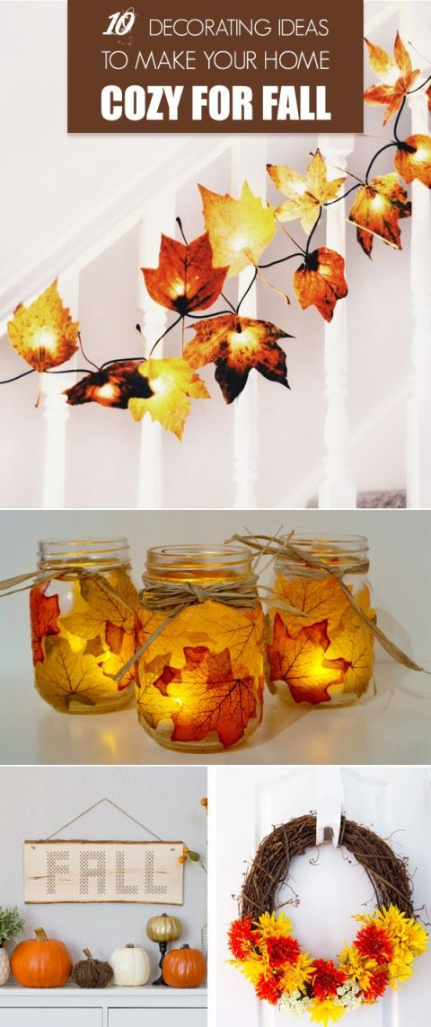 Adorable homemade fall decorations