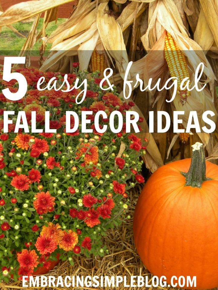 Amazing fall decorating on a budget