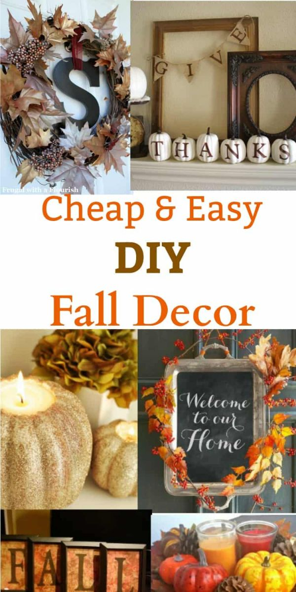 Adorable fall decorating on a budget