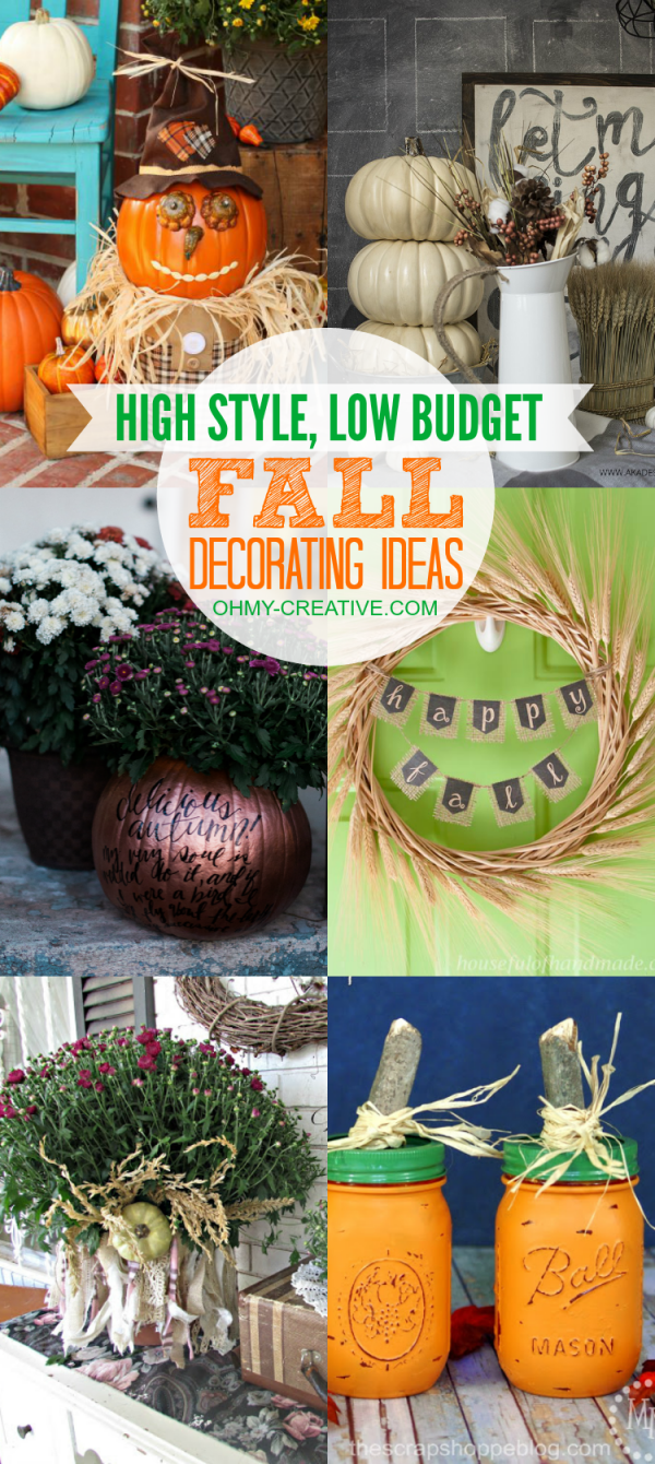 Fantastic fall decorating on a budget