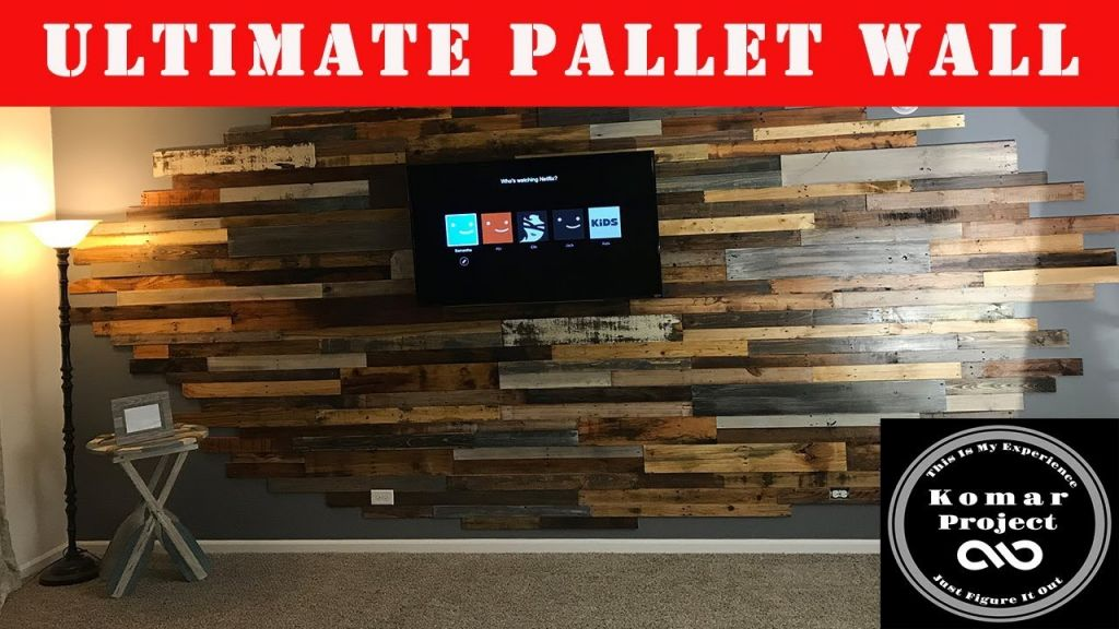Wonderful wooden pallet wall decoration