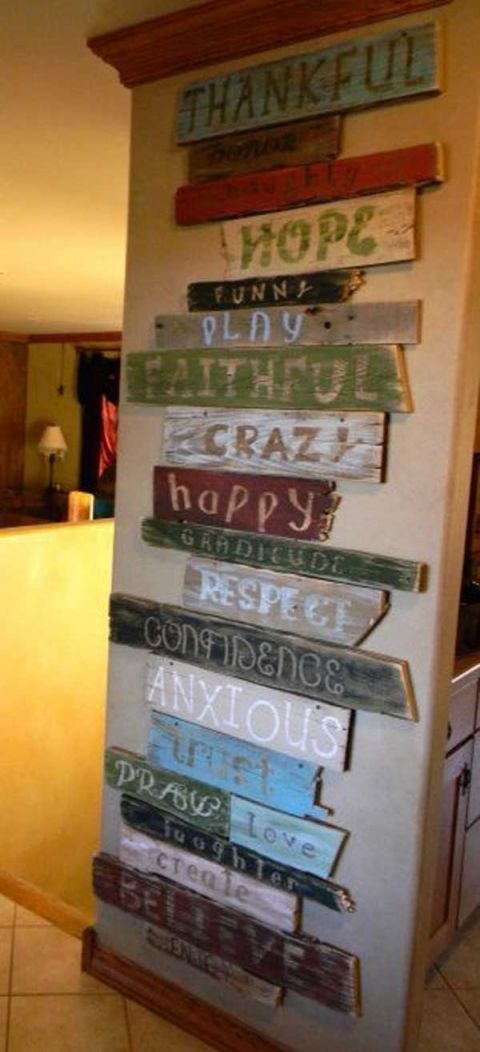 Gorgeous pallet ideas for walls